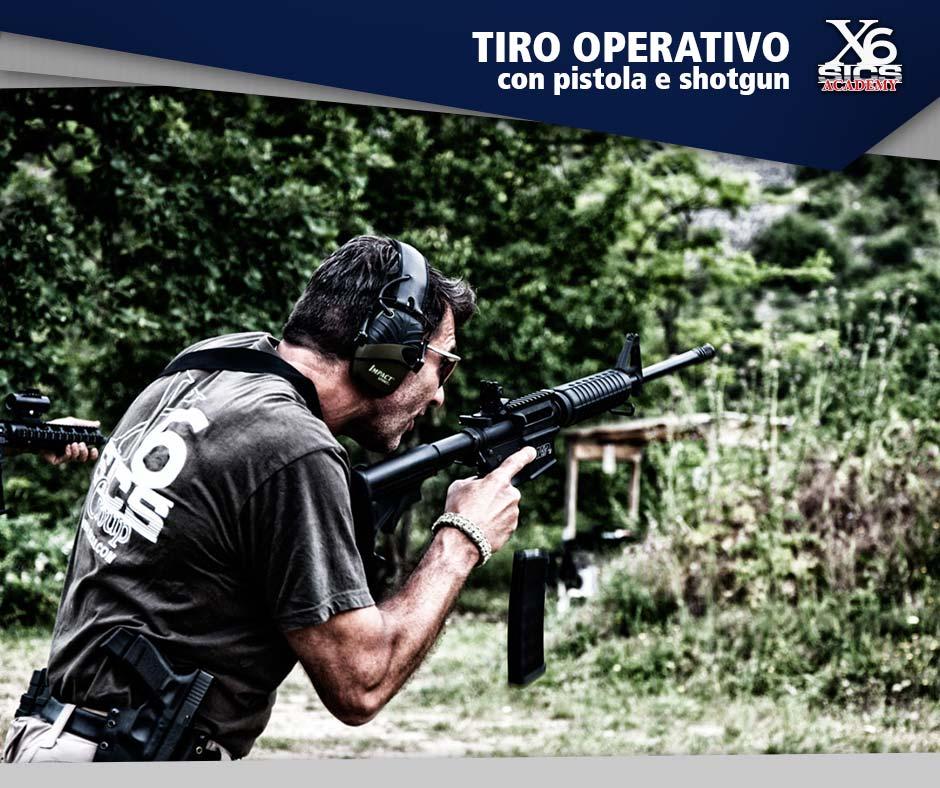 Corso di tiro operativo con pistola e shotgun